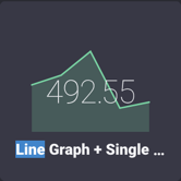 Line Graph + Single Stat selector